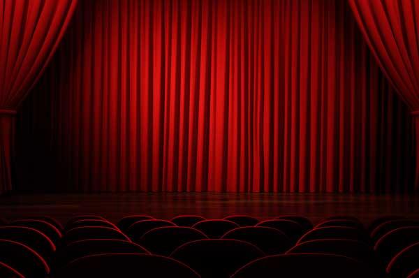 Theatre seats-curtain