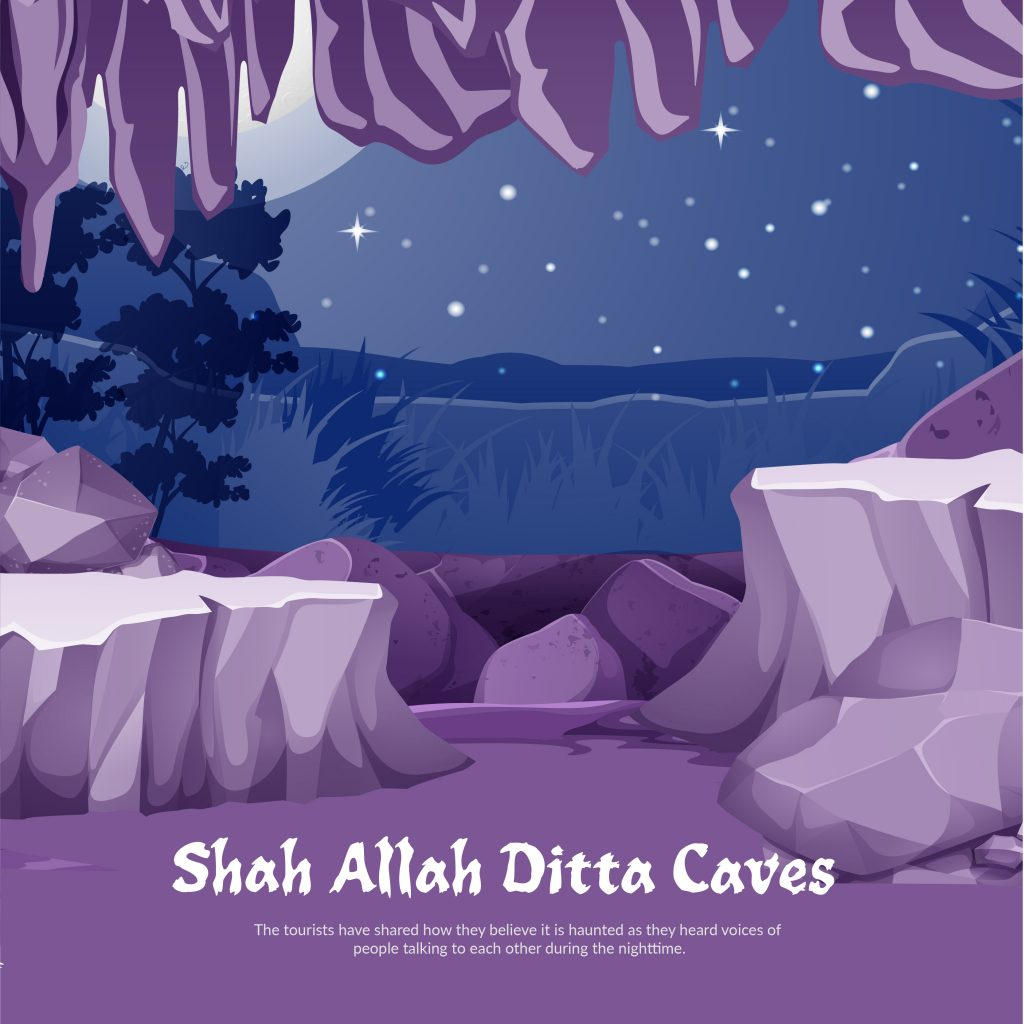 shah allah ditta caves, haunted places in Pakistan