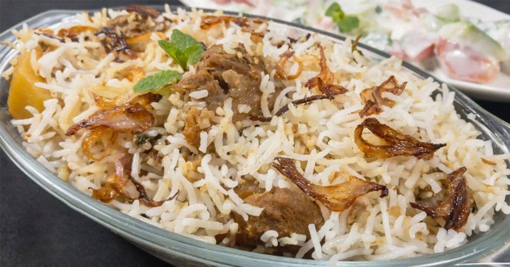 traditional biryani, white biryani, boiled chawal